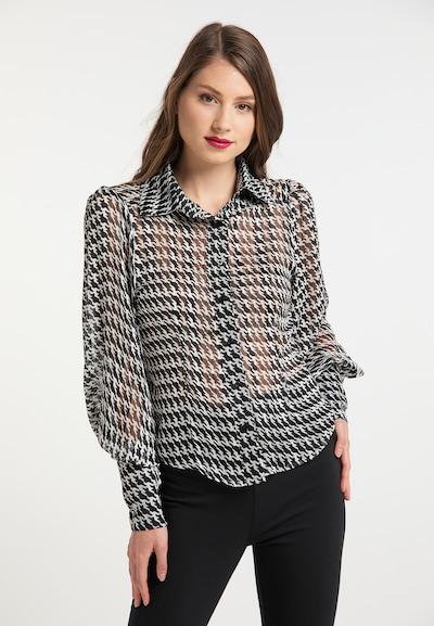 usha BLACK LABEL Bluse in schwarz / weiß, Modelansicht