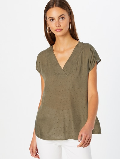 Fransa Bluse 'BAJOY' in grün, Modelansicht