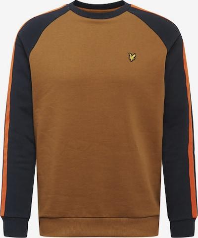 Lyle & Scott Sweatshirt in navy / braun / gelb / orange, Produktansicht