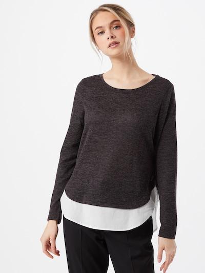 VERO MODA Jersey 'BIRGIT' en gris oscuro / blanco, Vista del modelo