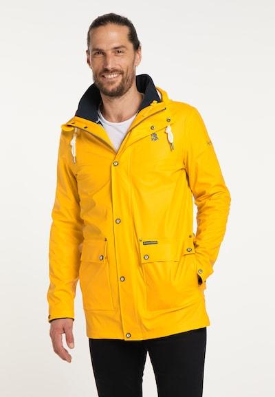 Schmuddelwedda Regenmantel in gelb, Modelansicht