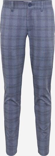 Only & Sons Pantalon chino en bleu foncé / gris / rouge pastel, Vue avec produit