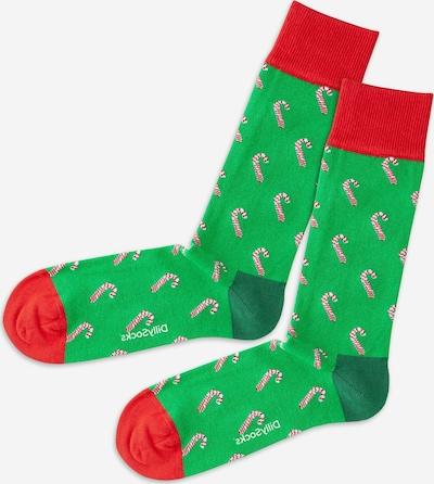 DillySocks Socks in Green / Red / White, Item view