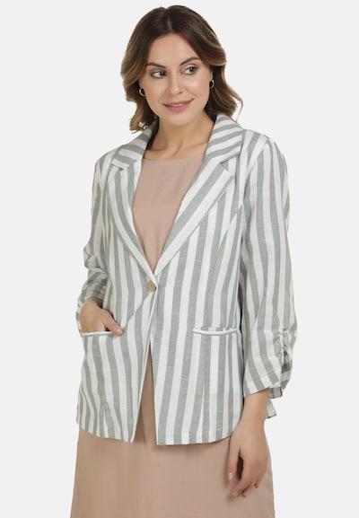 DreiMaster Vintage Blazer in mint / weiß, Modelansicht