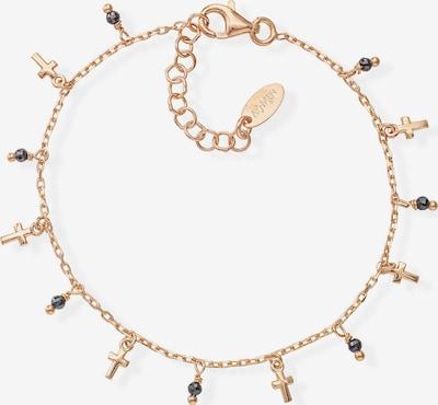 Amen Armband in gold / schwarz, Produktansicht