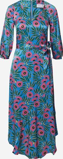 Closet London Kleid in blau / grün / pitaya, Produktansicht