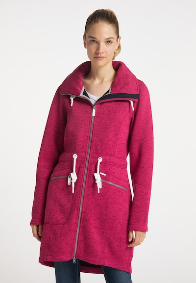 ICEBOUND Knitted Coat in mottled pink / White, View model