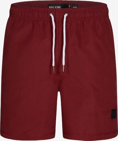 INDICODE JEANS Zwemshorts in de kleur Donkerrood, Productweergave