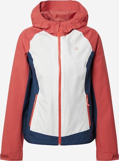Schöffel Zunanja jakna | mornarska / pastelno rdeča / bela barva, Prikaz izdelka