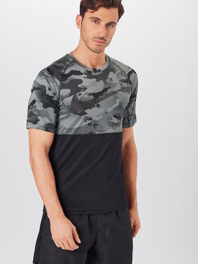 NIKE Funkční tričko - šedá / tmavě šedá / černá: Pohled zepředu
