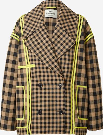 MADS NORGAARD COPENHAGEN Jacke  'Janina' in braun / neongelb / oliv / schwarz, Produktansicht