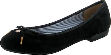 JANE KLAIN Ballet Flats in Black