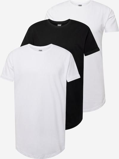 Tricou Urban Classics pe negru / alb, Vizualizare produs