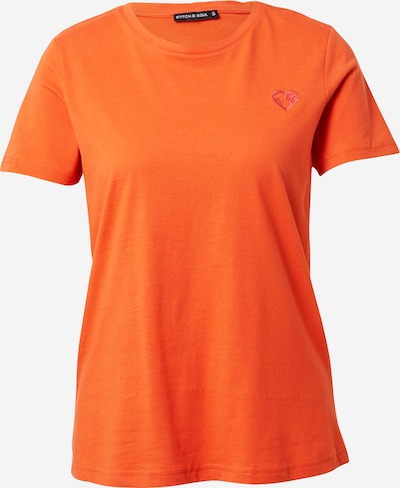 Stitch and Soul Shirt in orange, Produktansicht