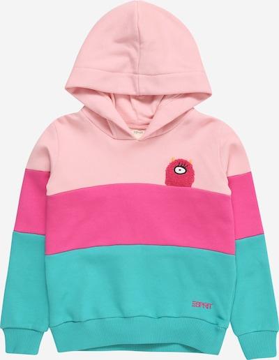 ESPRIT Sweatshirt in türkis / pink / rosa, Produktansicht