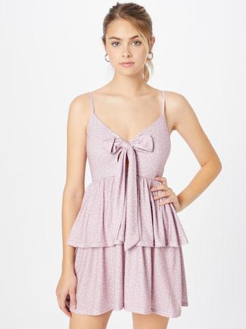 In The Style Kleid 'Dani Dyer Blush Polka' - ružová