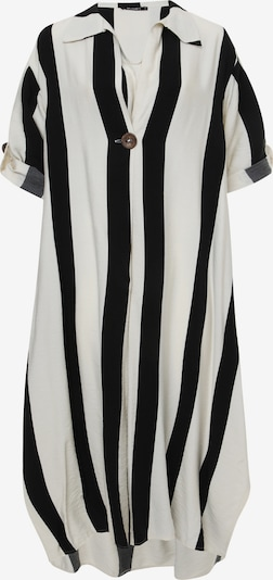 Madam-T Jurk 'GILBERTA' in de kleur Zwart / Wit, Productweergave