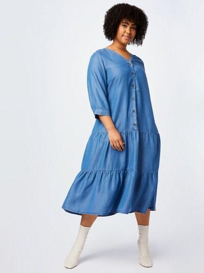 Zizzi Košilové šaty 'CARIN' - modrá džínovina, Model/ka