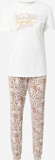 ONLY Pyjama 'ISABELLA' en marron / rose / blanc, Vue avec produit