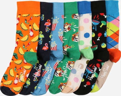 Happy Socks Chaussettes '7 Days' en mélange de couleurs, Vue avec produit