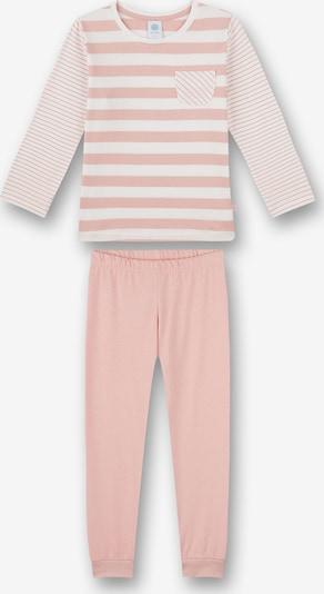SANETTA Pyjama in pastellpink / weiß, Produktansicht