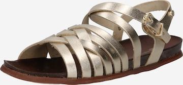 Sandale cu baretă de la Fred de la BretoniÈre pe auriu