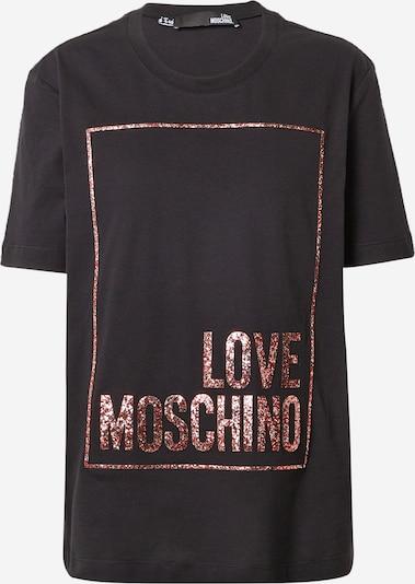 Tricou Love Moschino pe roşu închis / negru, Vizualizare produs