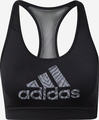 ADIDAS PERFORMANCE Sport bh in de kleur Grijs / Donkergrijs / Zwart, Productweergave