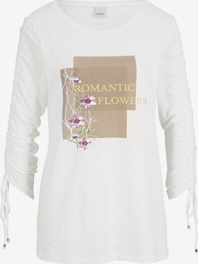 heine T-shirt en mélange de couleurs / blanc, Vue avec produit