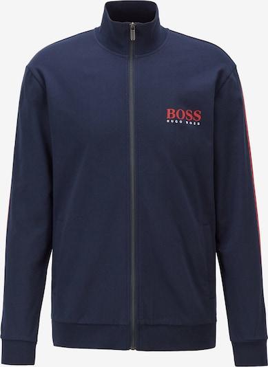 BOSS Casual Sweatvest in de kleur Donkerblauw / Rood, Productweergave