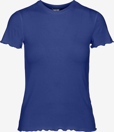 PIECES T-shirt 'Nicca' i mörkblå: Sedd framifrån