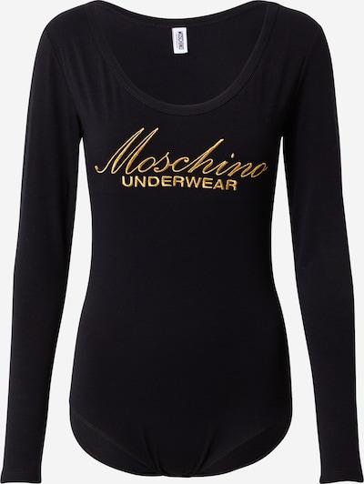 Moschino Underwear Bodi majica u zlatna / crna, Pregled proizvoda