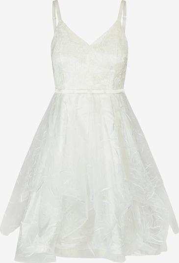 APART Cocktailkleid aus Satin, Tüll und Pailletten in weiß, Produktansicht