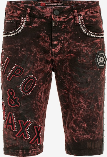 CIPO & BAXX Jeans 'Rotten' in de kleur Rood / Zwart, Productweergave