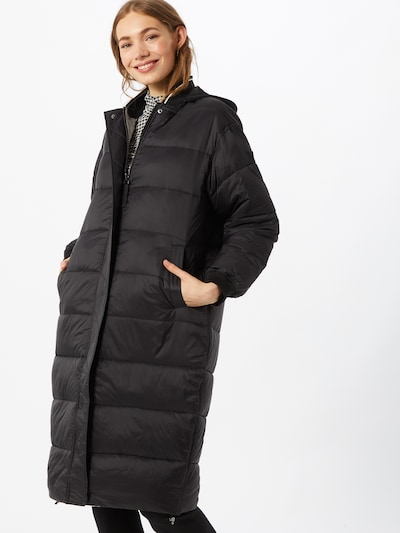 GUESS Зимно палто 'REBECCA REVERSIBLE LONG BOMBER' в черно, Преглед на модела