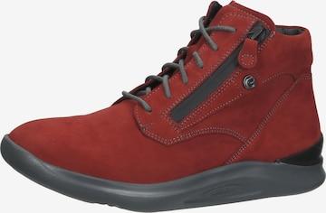 Ganter High-Top Sneakers in Red
