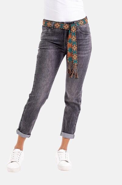 Blue Monkey Jeans in Grey, View model