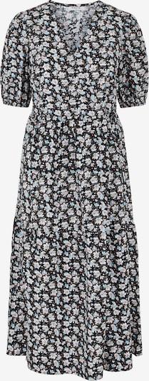 PIECES Kleid in hellblau / grau / schwarz / weiß, Produktansicht