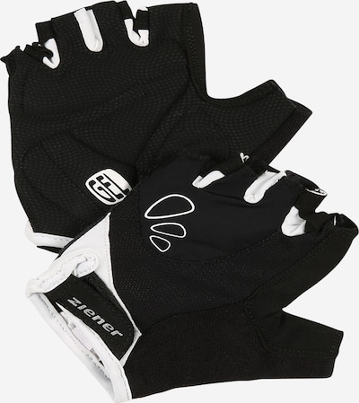 ZIENER Sports gloves 'CAPELA' in Black / White, Item view