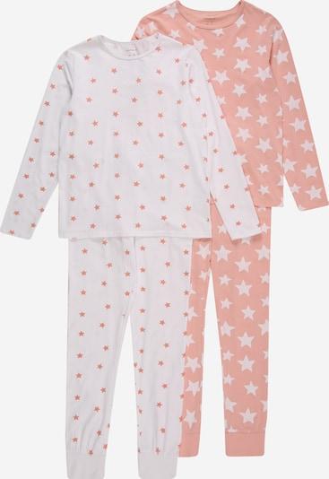 NAME IT Pyjama en rose ancienne / blanc, Vue avec produit