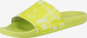 ARMANI EXCHANGE Beach & Pool Shoes in Green