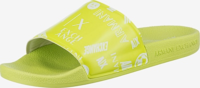 ARMANI EXCHANGE Beach & Pool Shoes in Reed / White, Item view