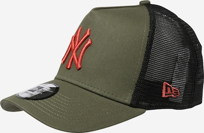 NEW ERA Cap 'League Essential' in oliv / orange, Produktansicht