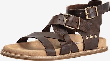 INUOVO Sandale in Braun
