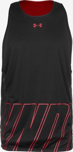 UNDER ARMOUR Funktionsshirt in rot / schwarz, Produktansicht