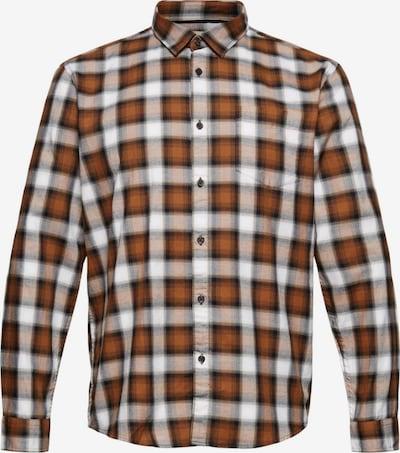 ESPRIT Hemd in braun / dunkelgrau / weiß, Produktansicht