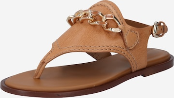 See by Chloé T-Bar Sandals 'Mahe' in Brown