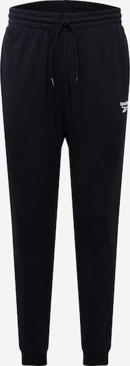 Reebok Sport Sweathose in schwarz / weiß, Produktansicht