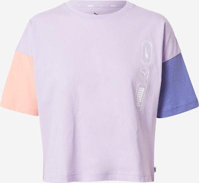 PUMA T-shirt fonctionnel 'Rebel' en bleu fumé / violet clair / corail / blanc, Vue avec produit