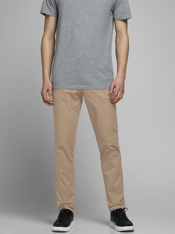 JACK & JONES Chino trousers 'Marco' in Beige